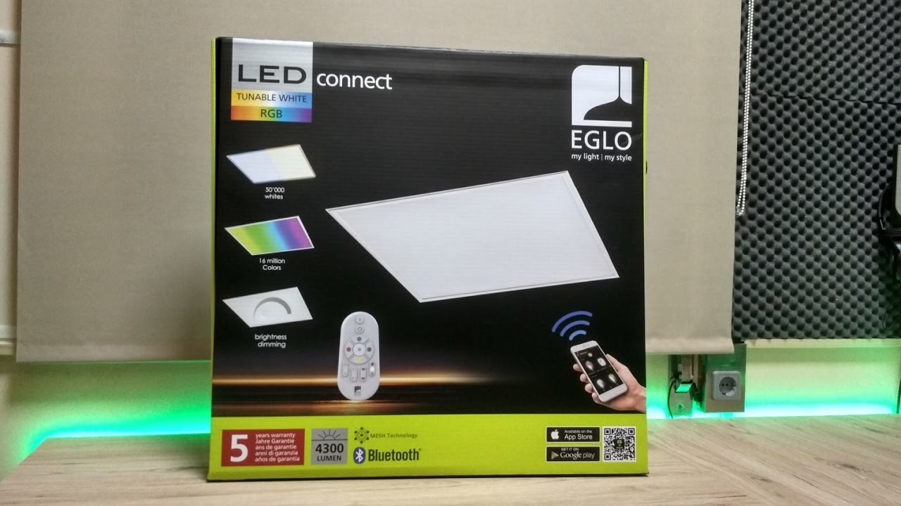 Painel Eglo Unboxing Rgbtunable Led Whites rxodBCe