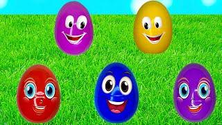 Алекс и Настя учат цвета с разноцветными яйцами на ферме под песенку про Старого Макдональда