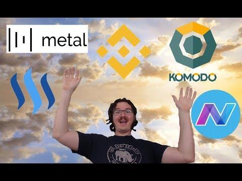 Friday New Roundup - Metal, Binance, Steem, Komodo, and Nav