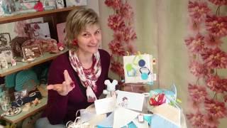 Детски комплект кубче от плат, мека книжка, флагчета и картичка ръчна изработка