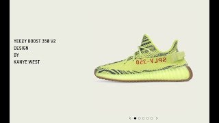 DID YOU GET THE ADIDAS YEEZY 350 V2 SEMI FROZEN YELLOW SNEAKER? thumbnail