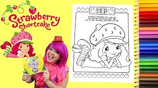 Coloring Strawberry Shortcake Coloring Book Page Colored Pencil Prismacolor | KiMMi THE CLOWN
