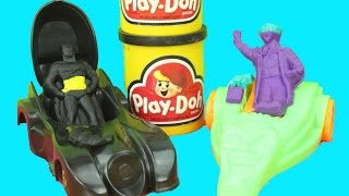 Batman Play-Doh Set Create Batman, Joker & Commissioner Gordon Batmobile Vintage 1990 Playset Gotham