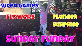 Sunday Funday, Video Games, Flowers, My Way and a Plunger Surprise