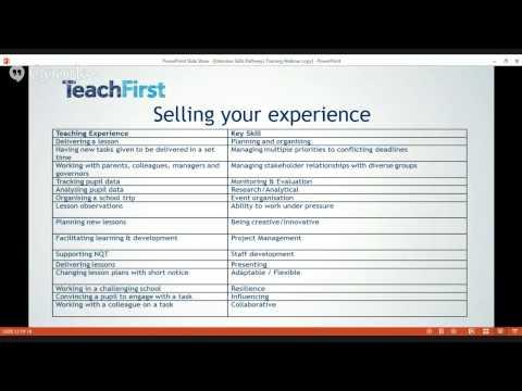 Teach First Interview workshop
