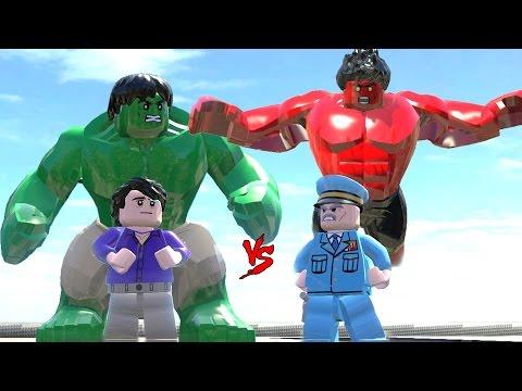 A-BOMB VS BLUE HULK VS BLUE VENOM (BATTLE) - Lego Marvel Super Heroes