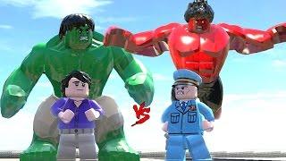 HULK (TRANSFORMATION) VS RED HULK - LEGO FIGHT (LEGO MARVEL Super Heroes)