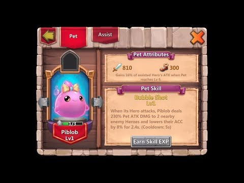 New Pet Piblob And Gameplay - TH Lvl 21 2nd Account - Castle Clash