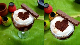 1 Minute Must Try banana kit kat coffee milkshake | Yummy chocolate milkshake | #shorts