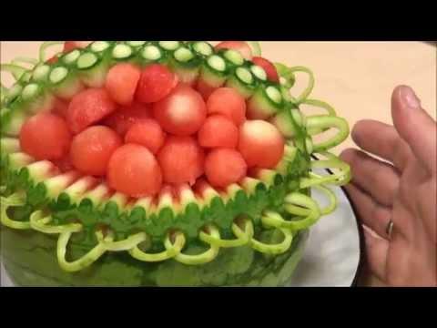 032. Fruit carving course watermelon basket / Kurs carvingu kosz z arbuza