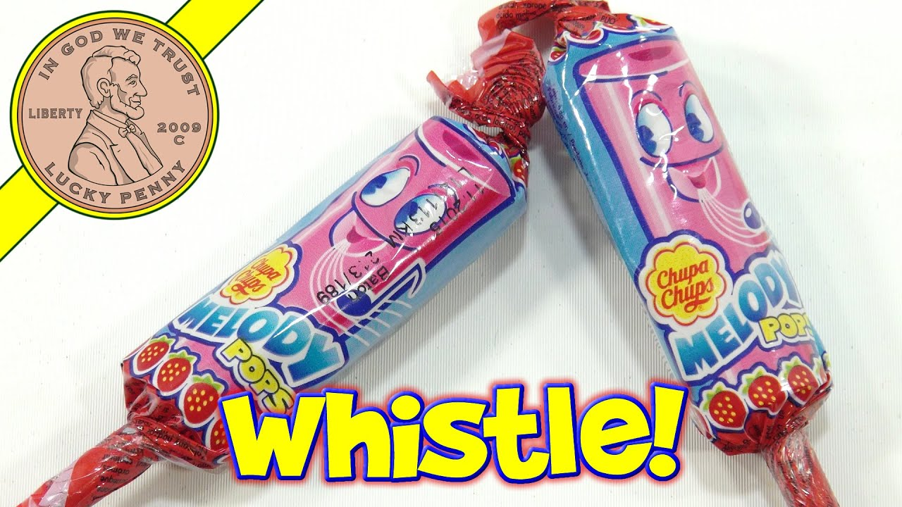 Chupa Chups Melody Pops Candy Whistle Strawberry Lollipop