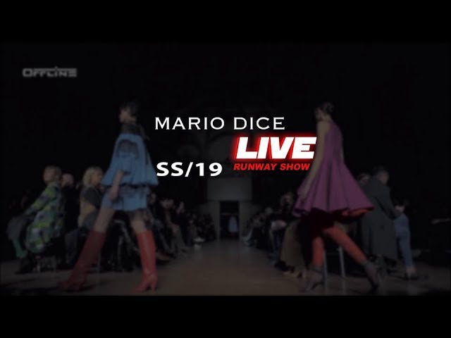 Mario Dice SS19 Неделя моды в Milano Fashion Show Live Streaming #MFW #MILANOOFFLINE