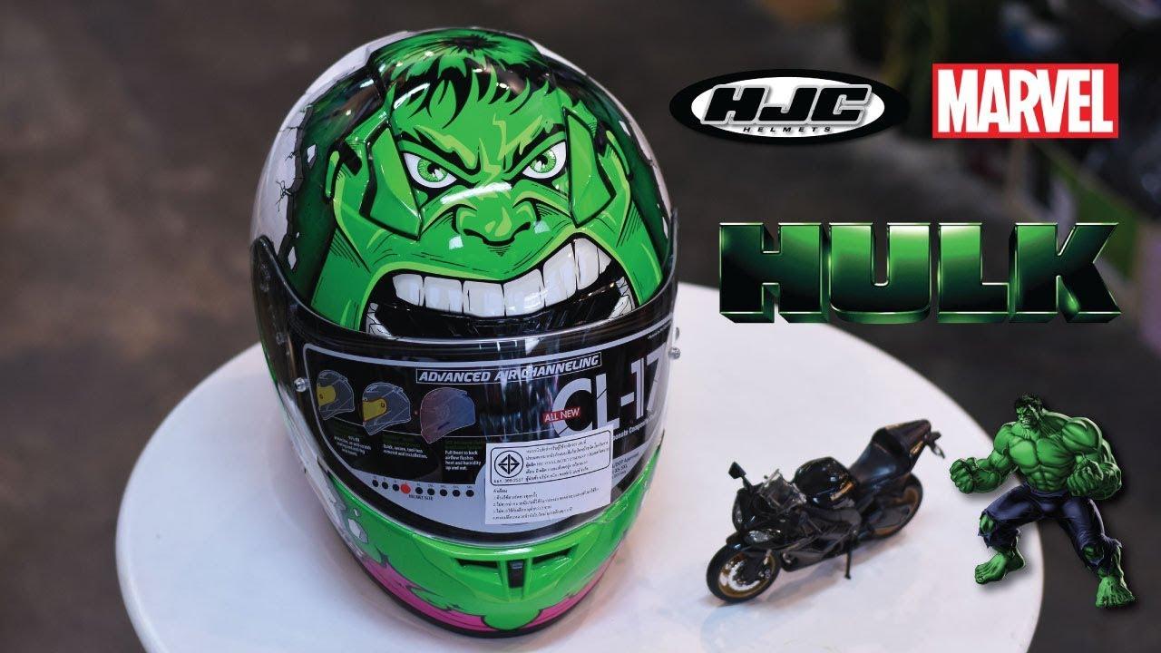 983153716 HJC helmet model CL-17 MARVEL HULK by KREY - YouTube