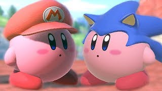 All Kirby Hats and Powers in Super Smash Bros Ultimate (Gourmet Race)