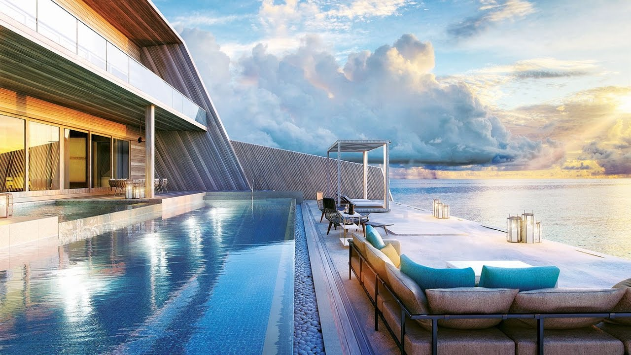 Largest Overwater Villa In The Maldives 25 000 A Night Youtube