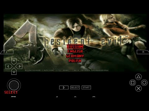 RESIDENT EVIL 4 NO PPSSPP EMULADOR PSP GAME PLAY NO ANDROID