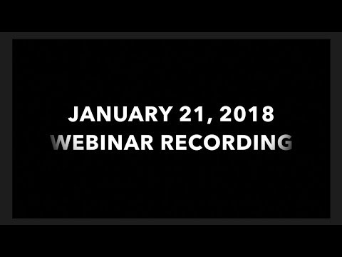 FOREX Webinar Recording from January 21, 2018
