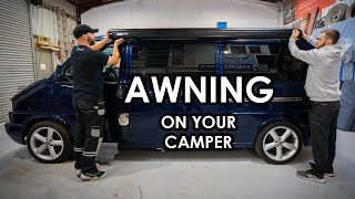 HOW TO PROFESSIONALLY FIT AN AWNING TO YOUR CAMPER (Fiamma F45s on a VW T4)