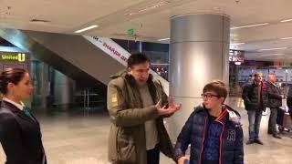 Одиннадцатилетнего сына Саакашвили задержали в аэропорту и более 3 часов удерживали