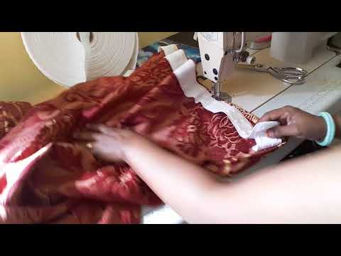 D I Y  CURTAIN BORDER EASY SEWING. Coudre Le  Rideau. Commen