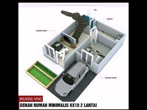 Denah rumah minimalis 6x10 2 lantai