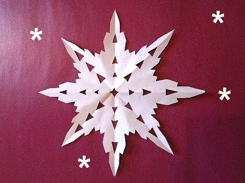 DIY PAPER CUT OUT SNOWFLAKE