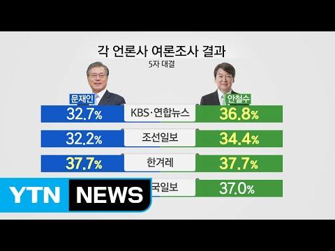대선 D-29...문재인 vs 안철수 초접전 / YTN (Yes! Top News)