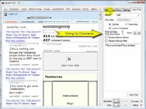 reddit bot redditroll automated reddit comment vote bot new youtube