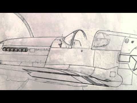 P-51 Mustang oil painting (trailer)