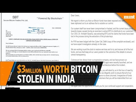 India's Coinsecure exchange says $3 million worth of bitcoins stolen