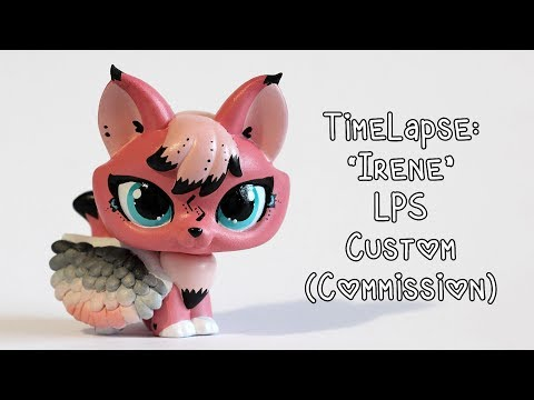 "Timelapse: ""Irene"" Angel Fox LPS Custom (Commission)"