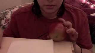Asmr: Eating A Crunchy Apple And Caramel Dip
