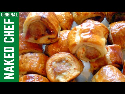 Christmas Sausage Rolls How to make recipe snack food