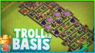 TROLL BASIS 8.0 | GENIALE TROLL BASE!!! - Clash of Clans