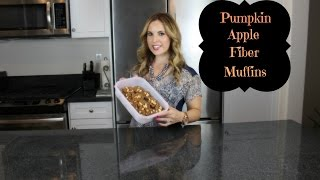 Pumpkin Apple Fiber Muffins