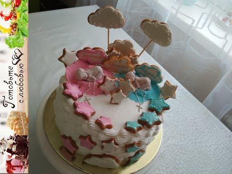 Оформление торта для мальчика и девочки