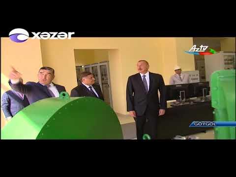 Prezident İlham Əliyev qərb bölgəsində səfərdədir