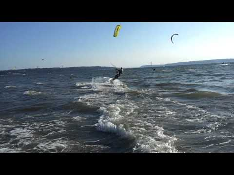 Father and Son Jetty Island Kite Surfing vid #3