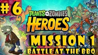 #6| Plants vs. Zombies Heroes Gameplay Walkthrough Guide | Mission 1 |Android iOS Hearthstone HD