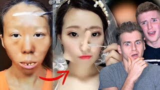 VIRAL ASIAN MAKE UP TRANSFORMATION TUTORIAL thumbnail
