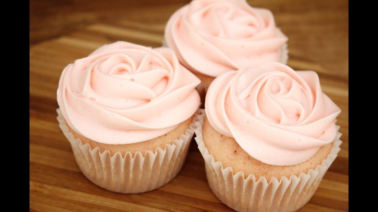 Pink Velvet Rose Cupcakes Sweetco0kiepie Youtube