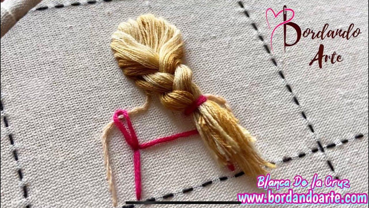 Bordar cabello con punto turco