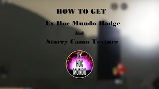 ✔ How to get Ex Hoc Mundo Badge And Starry Camo Texture | Roblox Vehicle Simulator