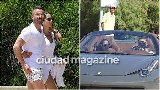 ¡Romance a todo motor! El paseo de Cinthia Fernández y Martín Baclini en una Ferrari por Punta de...