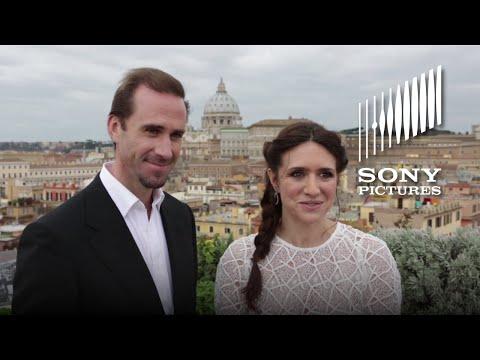 RISEN  Joseph Fiennes & Maria Botto Visit the Vatican
