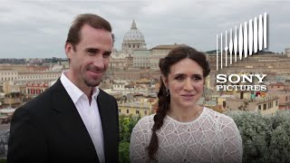 RISEN - Joseph Fiennes & Maria Botto Visit the Vatican