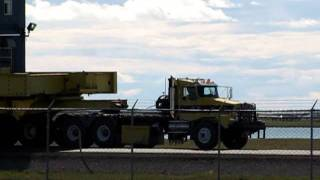 Heavy equipment move in Prudhoe Bay