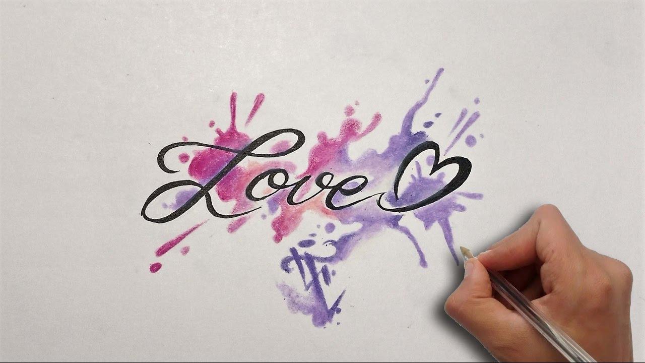 dise o letras love lettering design love nosfe ink tattoo youtube. Black Bedroom Furniture Sets. Home Design Ideas