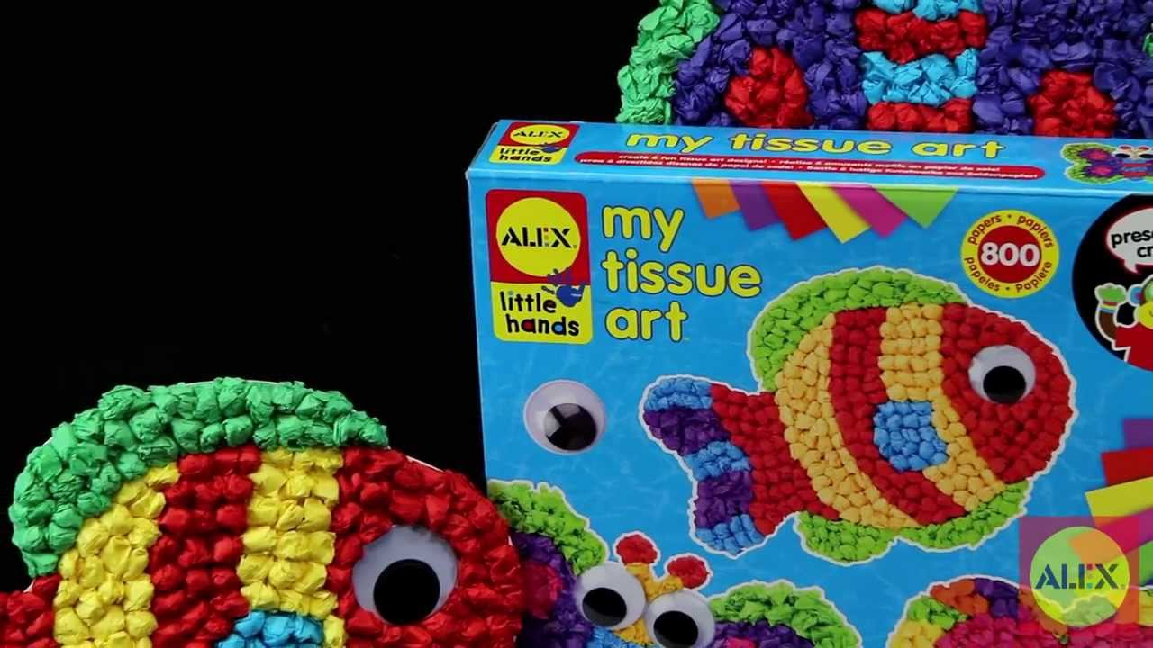 Alex toys my tissue art craft kit 521w youtube for Toys r us crafts