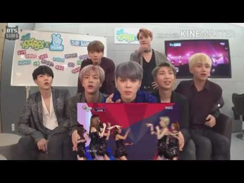 BTS reaction To SNSD LION HEART Live Stage